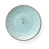 Tyrkysový jídelní talíř z kameniny Brandani Serendipity, ⌀ 27,5 cm