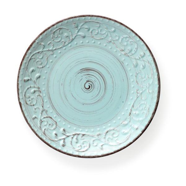 Tyrkysový tanier z kameniny Brandani Serendipity, ⌀27,5 cm