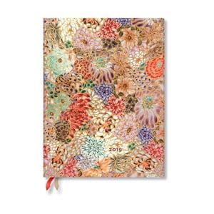 Diář na rok 2019 Paperblanks Kikka, 18 x 23 cm
