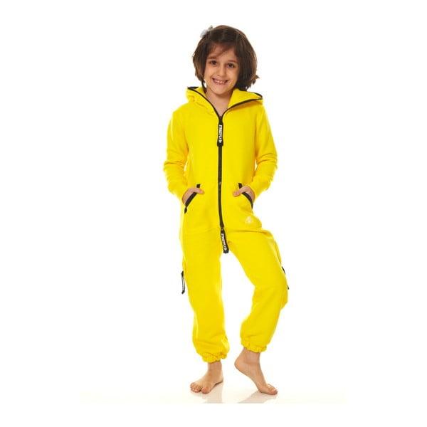 Žlutý dětský domácí overal Streetfly, pro děti 12-13 let