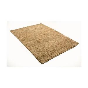 Světle hnědý koberec z vlny a bavlny Cotex, 140 x 200 cm