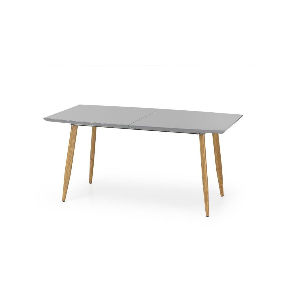 Šedý rozkládací jídelní stůl Halmar Ruten, délka 160 - 200 cm