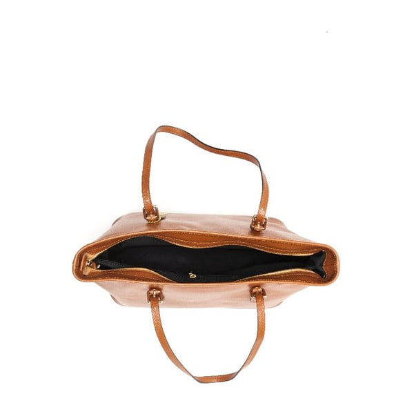 Kožená kabelka Renata Corsi 433 Cognac