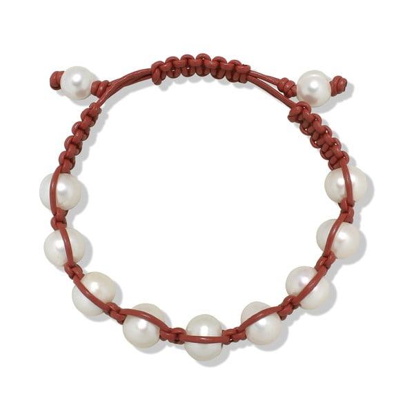 Tmavě červený perlový náramek Nova Pearls Copenhagen de Vida