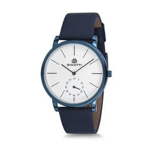 Pánské hodinky s modrým koženým řemínkem Bigotti Milano Wave