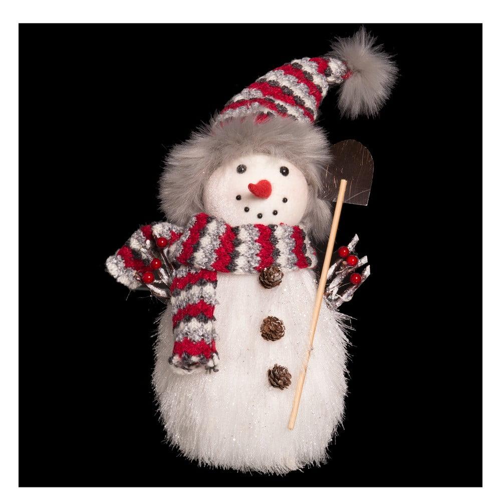 Vánoční dekorace Unimasa Snowman, výška28cm
