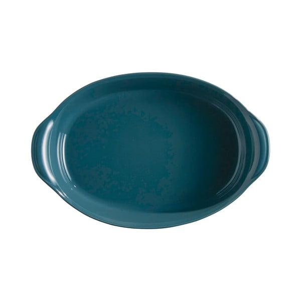 Vas oval de copt Emile Henry, 2,3 l, albastru închis