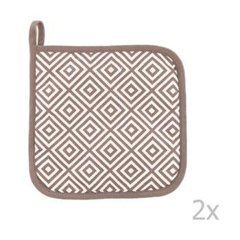 Set 2 șervete termice din bumbac Tiseco Home Studio Hexagon Tetris, maro imagine