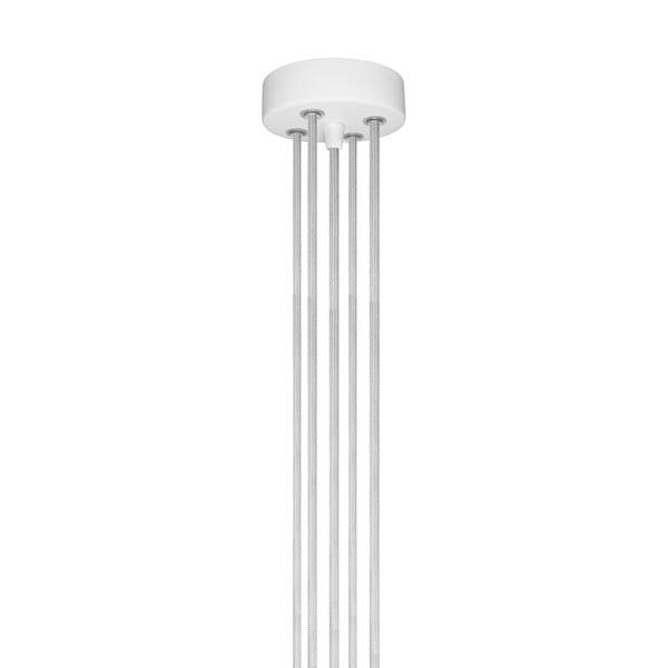 Závěsné svítidlo s 5 bílými kabely a měděnou objímkou Bulb Attack Uno Group