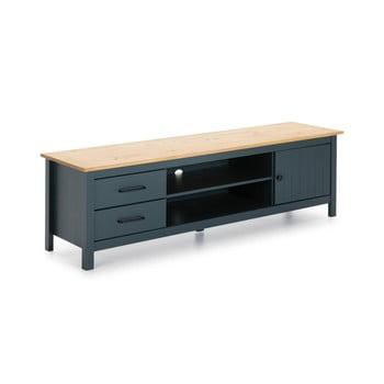 Masă TV din lemn Marckeric Miranda, albastru