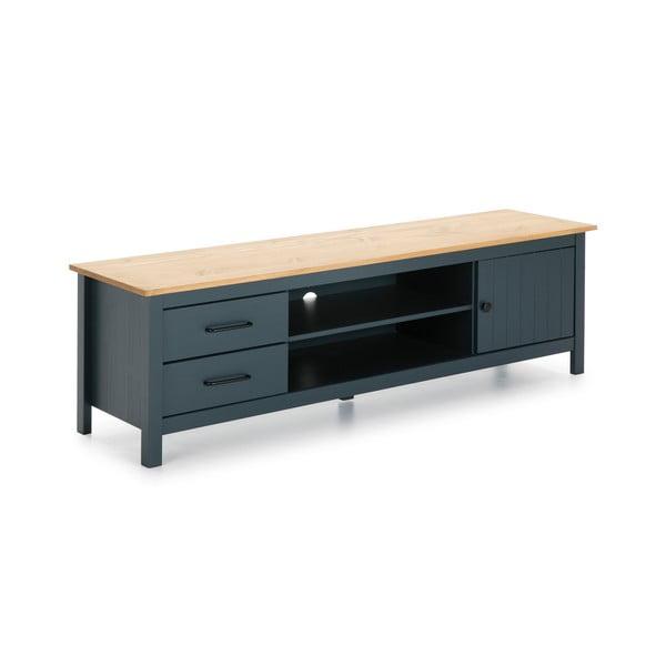 Modrý dřevěný TV stolek Marckeric Miranda