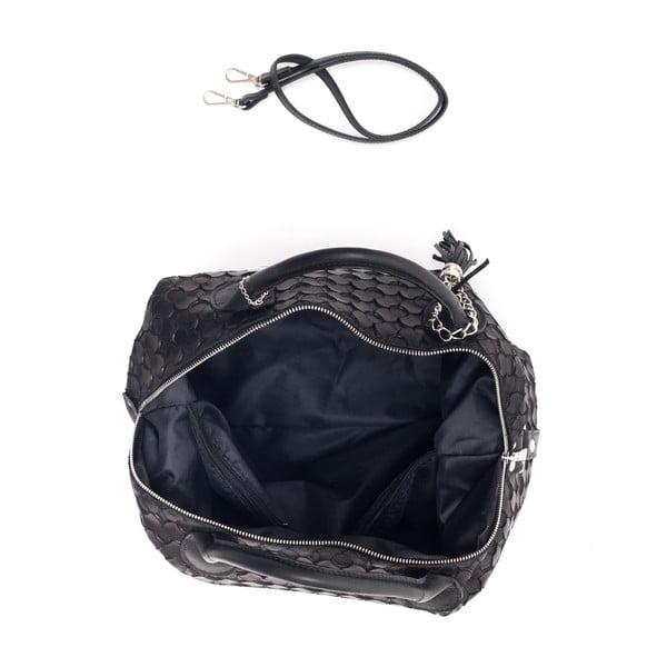 Kožená kabelka Carola, černá