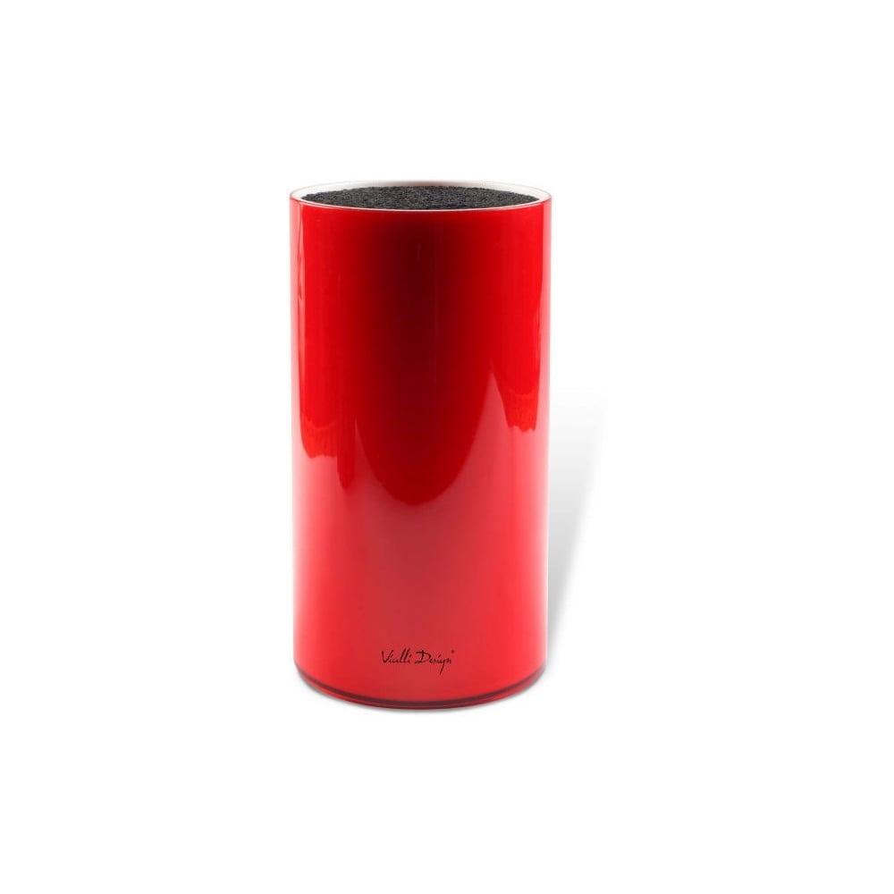 Červený blok na nože Vialli Design Universal