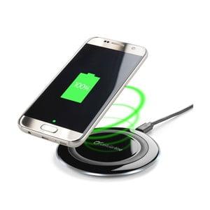 Černá bezdrátová nabíječka Cellularline WIRELESSPAD, Qi standard
