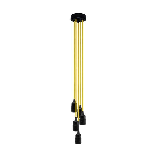 Pětice závěsných kabelů Uno, žlutá/černá
