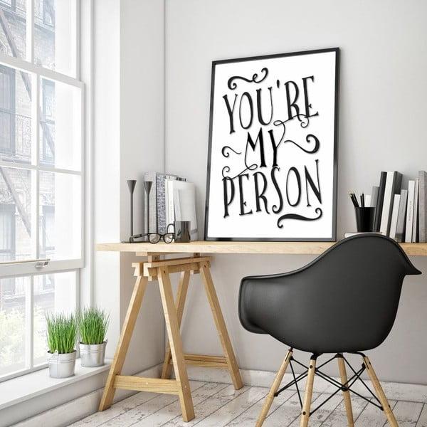 Plakát v dřevěném rámu My Person, 38x28 cm