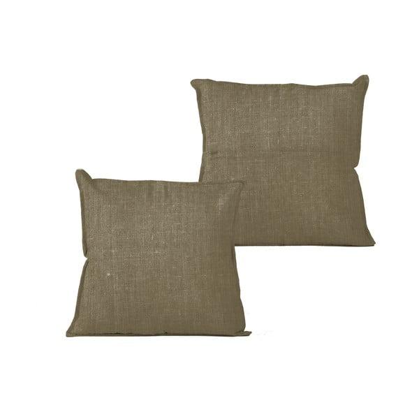 Hnedý vankúš Linen Couture, 45 x 45 cm