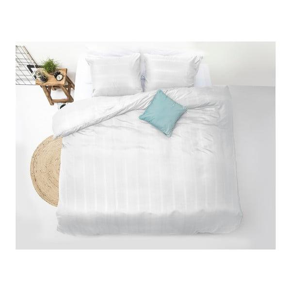 Biele obliečky z mikroperkálu na jednolôžko Sleeptime Montreal, 140×200 cm