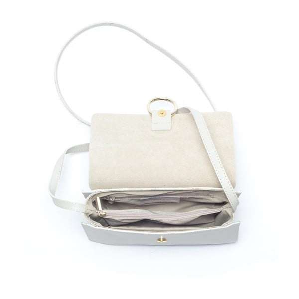 Kožená kabelka Mangotti 3038, béžová