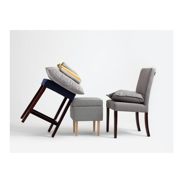 Šedá židle s hnědými nohami Custom Form Wilton