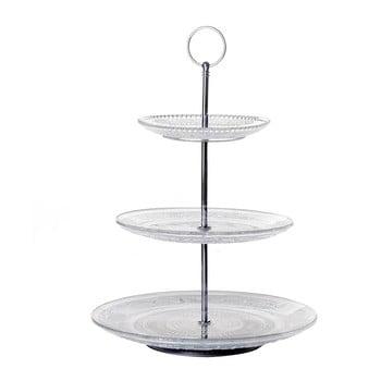 Suport etajat din sticlă pentru prăjituri Unimasa Romance, înălțime 35 cm de la Unimasa