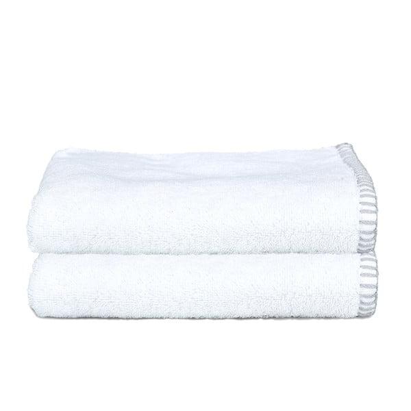 Sada 2 ručníků Whyte 50x90 cm, bílá/šedá
