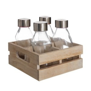 Dřevěný box se 4 lahvemi Ixia