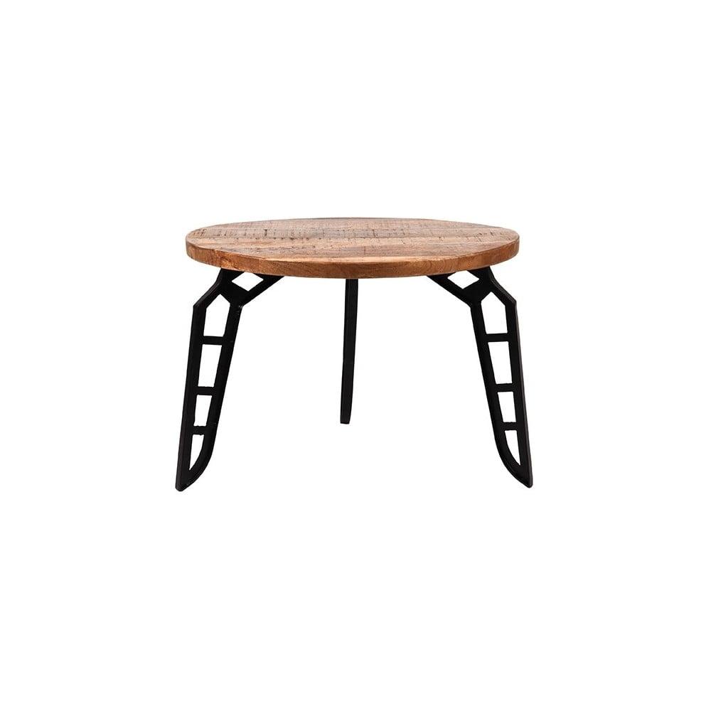 Odkládací stolek s deskou z mangového dřeva LABEL51 Flintstone, ⌀ 60 cm