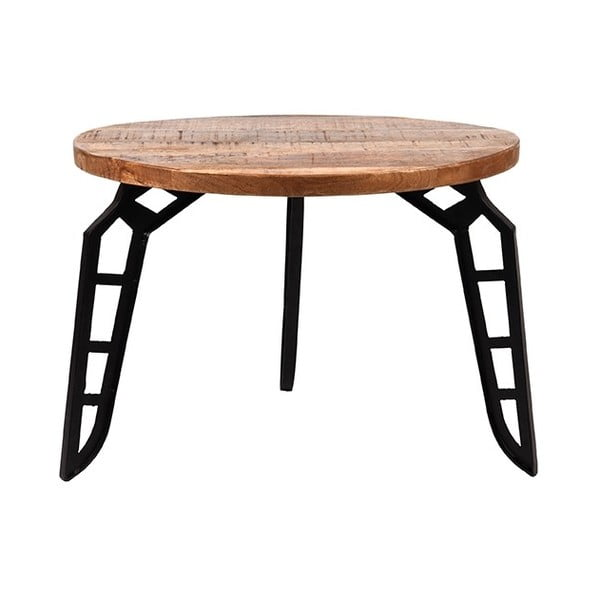 Odkládací stolek sdeskou zmangového dřeva LABEL51 Flintstone, ⌀60cm