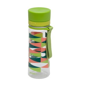 Lahev na vodu se zeleným víčkem a potiskemAladdin Aveo,350ml