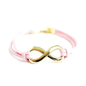 Náramek Bright Pink Infinity