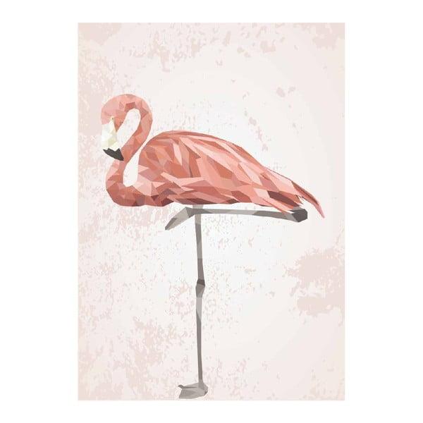 Plakát Pink Flamingo, A3