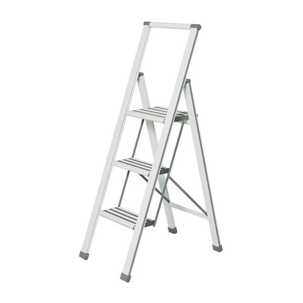 Ladder Alu fehér összecsukható fellépő, magasság 127 cm - Wenko
