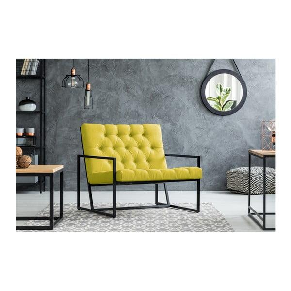 Žluté křeslo Mazzini Sofas Aster