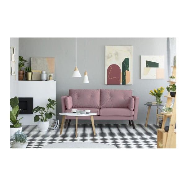 Canapea cu 3 locuri Mazzini Sofas Cotton, roz