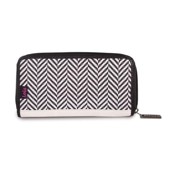 Peněženka Lois Wallet Black Geometry, 18x9 cm