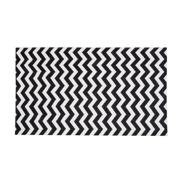 Optical Black White fokozottan ellenálló konyhai szőnyeg, 60 x 220 cm - Webtappeti