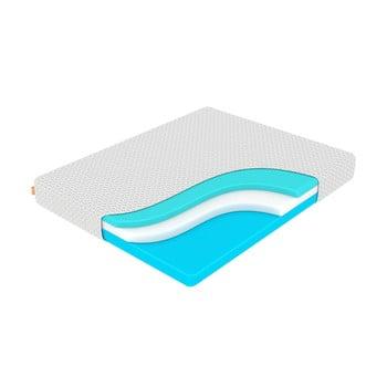 Saltea din spumă cu memorie, fermitate medie-rigidă Enzio Ocean Support, 180 x 200 cm, înălțime 24 cm
