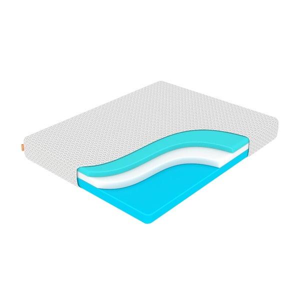 Stredne tvrdý matrac z pamäťovej peny Enzio Ocean Support, 120 x 200 cm, výška 24 cm