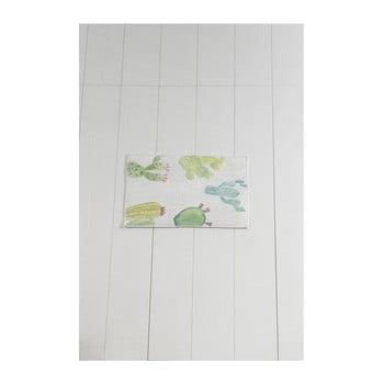 Covor baie Tropica Cactus I, 60 x 40 cm, alb - verde imagine