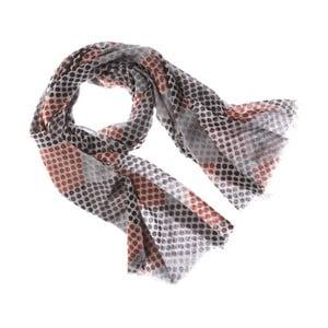 Šátek Block Dot Orange, 180x70 cm