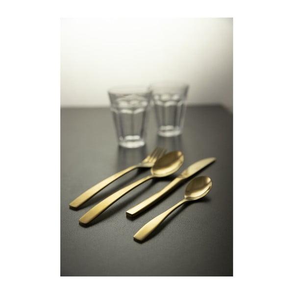 24dílná sada ocelových příborů ve zlaté barvě Villad'Este Madison