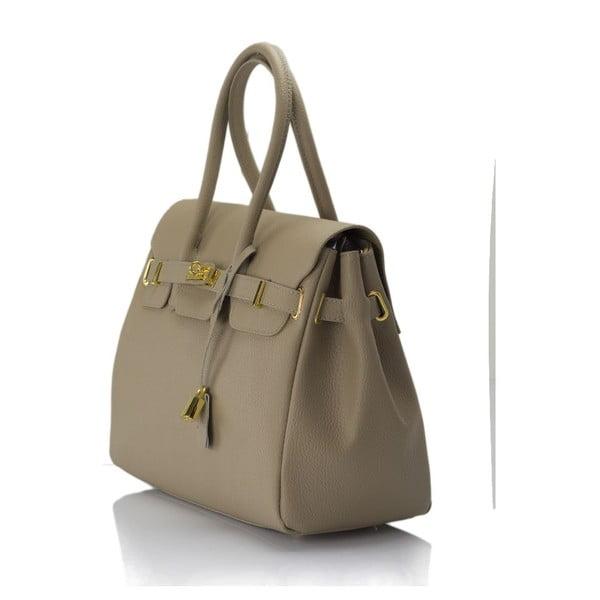 Béžová kožená kabelka Giulia Massari Concepta