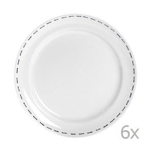 Sada 6 talířů Sophie Stitch 26.5 cm, modrý