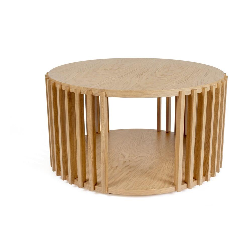 Odkládací stolek z dubového dřeva Woodman Drum, ø 83 cm