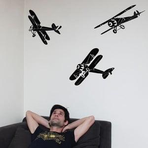 Samolepka na zeď Big black planes