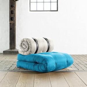 Křeslo/matrace Buckle up, 70 cm, modrá/světlá