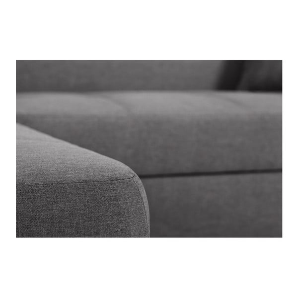 Tmavě šedá sedačka Interieur De Famille Paris Bijou, levý roh