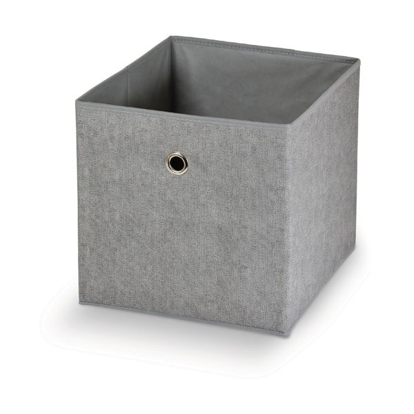 Šedý úložný box Domopak Stone,32x32cm