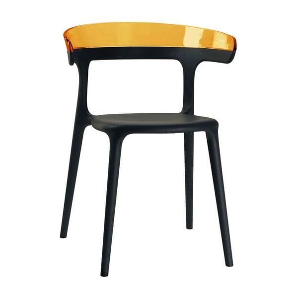 Židle Luna, black/amber